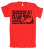 Before You Date My Daughter Pistol Shovel Backyard American Apparel T-Shirt