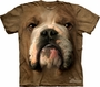 Bulldog Face The Mountain Adult T-Shirt
