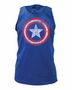 Captain America Distressed Shield Marvel Royal Tank Top