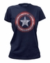 Captain America Women's Distressed Shield Marvel T-Shirt