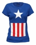 Captain America Women's Suit Marvel T-Shirt