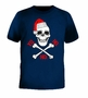 Christmas Pirate Skull Yo Ho Ho T-Shirt