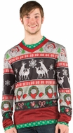 Christmas Ugly Frisky Deer Sweater Costume