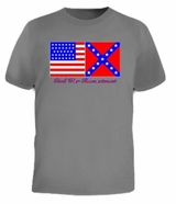 Confederate VS United States Flag Rebel War Tee T-Shirt