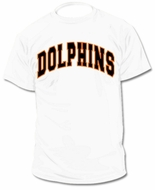 Custom Personalized Dolphins Jersey T-Shirt