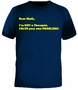 Dear Math Im Not A Therapist Solve Your Own Problems Funny T-Shirt