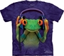DJ Peace Frog HeadPhones The Mountain Adult T-Shirt