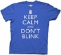 Doctor Who Keep Calm and Don't Blink Royal Blue T-Shirt