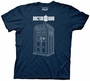 Doctor Who Linear Tardis Navy T-Shirt