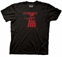 Doctor Who Red Linear Dalek Front and Back Black T-Shirt