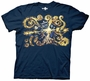 Doctor Who Van Gogh The Pandoric Opens Navy T-Shirt