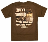 Duck Dynasty Hey! Look Here, A Superhero Hast Got to Get His Rest Uncle Si T-Shirt