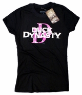 Duck Dynasty Pink Camo Metallic Logo Women's Junior Fit T-Shirt