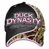 Duck Dynasty Swoosh Ladies Pink Logo Camo Black Hat Cap