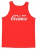 Enjoy Coke Cocaine Adult Humor Men's Tank Top