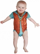 Faux Real Infant Hairy Chest Romper Baby Body Suit
