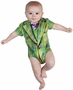 Faux Real Infant Plaid Suit Romper Baby Body Suit