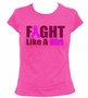 Fight Like A Girl Women's Ladies T-Shirt
