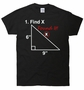 Find X Found It Funny Math School T-Shirt