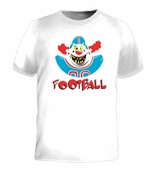 Football Clown Funny Scary Retro Humor Jersey T-Shirt