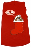 Funny Christmas Dog Stocking Dog Skin Tank T-Shirt