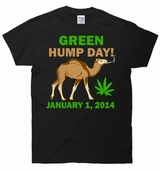 Green Hump Day Weed T-Shirt