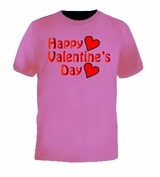 Happy Valentine's Day Holiday Love Heart Tee T-Shirt
