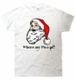 Holiday Santa Claus Where my Ho's at? Funny Christmas T-Shirt