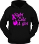 I Fight Like a Girl Cancer Ribbon Pink Hoodie T-Shirt