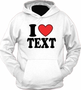 I Heart Love Custom Personalized Text Name Word Hoodie T-Shirt