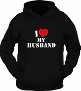 I Heart Love MY Husband Hubby Valentine Hoodie Sweater Pullover