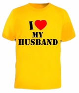 I Heart Love MY HUSBAND Hubby Valentine's Day Tee T-Shirt
