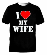 I HEART LOVE MY WIFE VALENTINE'S DAY Husband Tee T-Shirt