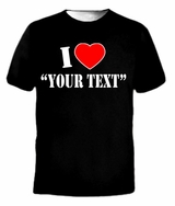 I LOVE CUSTOMIZE Custom Personalized Heart Tee T-Shirt