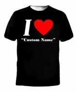 I Love Heart Your Name Valentine's Day Custom T-Shirt