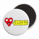 "I Love You Heart Smiley Cute Valentine's 2.25"" Magnet"