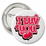 "I Love You Hearts Valentine's 2.25"" Button"