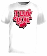 I Luv Love You Valentine's Heart T-Shirt