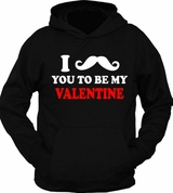 I Mustache You To Be My Valentine Hoodie