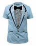 Impact Original Retro Prom Tuxedo Light Blue T-Shirt