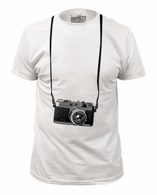 Impact Original Tourist Camera Picture White T-Shirt
