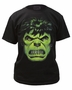 Incredible Hulk Angry Face Marvel Black T-Shirt