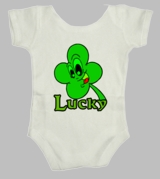 Irish Lucky Clover Luck Ireland Green St Patricks Day Infant Baby Body Suit