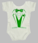 Irish Tux Tuxedo Beer Suit Green Ireland  St. Patrick's Day Baby Infant Body Suit