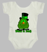 Irish Warm Lucky Clover Ireland Green Funny St Patricks Day Infant Baby T-Shirt