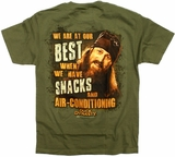 Jase Snacks and Air Condition Duck Dynasty T-Shirt