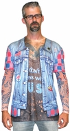 Jean Jacket Tattoo Long Sleeve T-Shirt