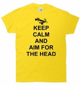 Keep Calm and Aim For The Head Crossbow T-Shirt