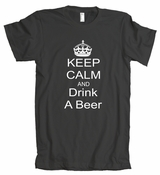 Keep Calm And Drink A Beer American Apparel T-Shirt
