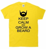 Keep Calm and Grow a Beard T-Shirt